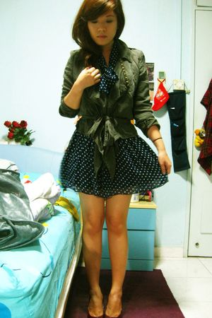 scarletroom dress - Topshop jacket - mondo - Forever 21 hat - from Thailand acce