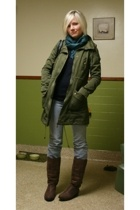 Gap sweater - H&M jacket - Gap jeans - The Limited scarf