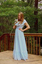 blue 70s vintage dress