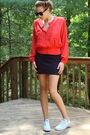Red-blouse-black-american-apparel-skirt-white-converse-shoes-black-ebay-su