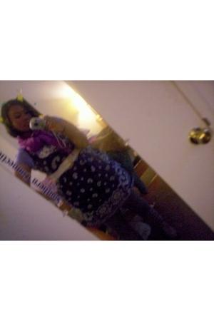 Old Navy dress - Victorias Secret t-shirt - Target leggings - Rainbow Stores boo