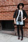Burberry-blue-label-coat-kookai-cardigan-h-m-shorts-deena-ozzy-hat