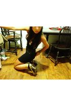 black payless fioni diy shoes - black forever 21 fabulous finds top - orange H&M