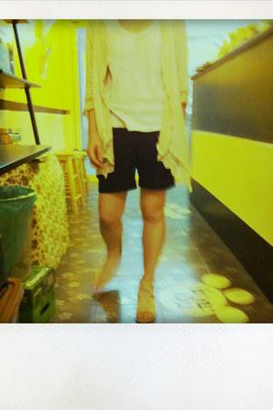 cardigan - shorts