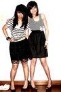 Zara-top-black-vintage-skirt