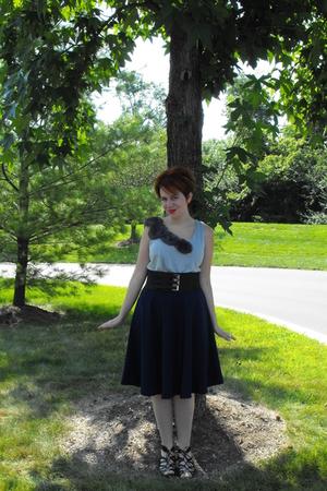 Hollie made skirt - Charlotte Russe shirt - Target belt - Target shoes