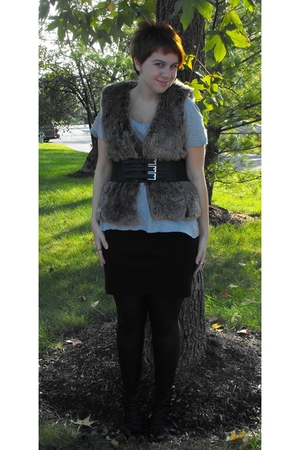 vest - Old Navy t-shirt - Target belt - American Apparel skirt - American Appare
