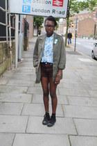 Topshop blouse - vintage jacket - vintage shorts