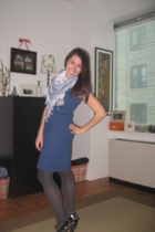 scarf - dress - tights - shoes
