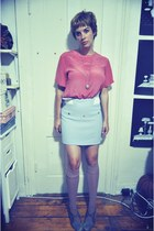 vivetta skirt - American Apparel socks - thrifted blouse - Devotte heels