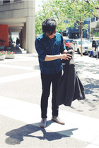 Pendleton shirt - Marc Jacobs jacket - Uniqlo jeans - Opening Ceremony shoes