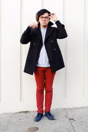 H&M coat - H&M sweater - American Apparel shirt - SR shoes
