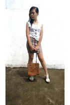 brown liz claiborne bag - brown skirt