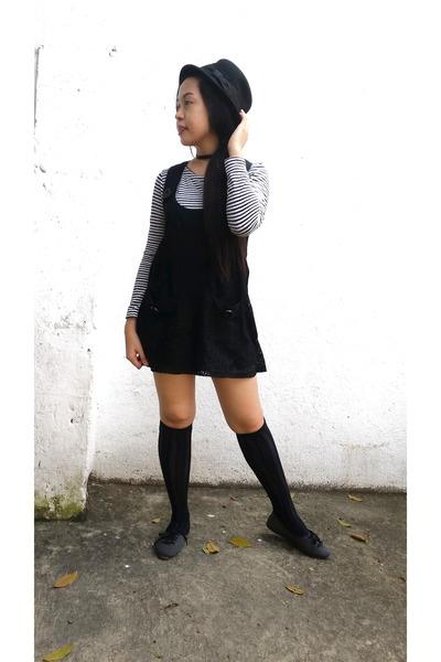 black lace mini Reor Mix dress - white calvin klein blouse
