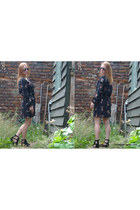 fringe asos shoes - black wrap In Love with Fashion dress