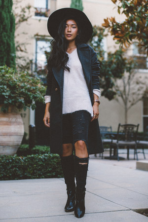 H&M coat - H&M jeans - H&M hat - H&M sweater