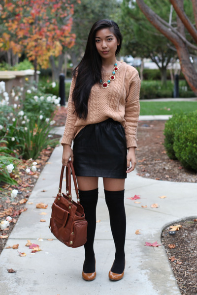 Naomi  Lavender sweater - George Gina and Lucy bag - Urban Outfitters skirt