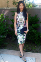 floral Zara dress - black Alexander Wang bag
