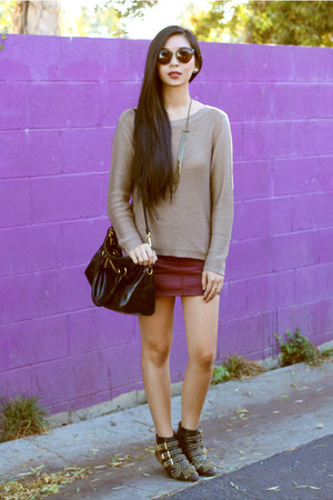 Theory sweater - Jeffrey Campbell boots - H&M skirt