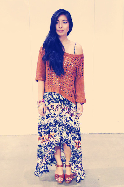 lavender brown dress - Forever 21 sweater
