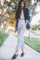 Johnston & Murphy blazer - Rachel Comey pants - Johnston & Murphy flats