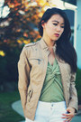 White-crossroads-trading-jeans-tan-pleather-forever-21-jacket