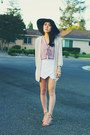 Light-pink-sheer-forever-21-top-white-origami-sheinside-skirt