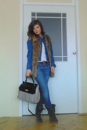 Aldo boots - Cubus coat - Primark bag - Diesel belt - Primark vest