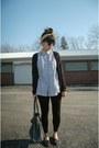 Black-cardigan-jc-penny-sweater-black-tj-maxx-leggings-gold-thrifted-scarf