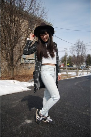 black Sheinside jacket - light blue TJ Maxx jeans - white TJ Maxx sweater