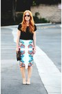T-shirt-pencil-bisou-bisou-skirt