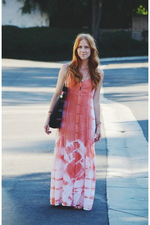 tie dye maxi Mimi Chica dress - ecote bag
