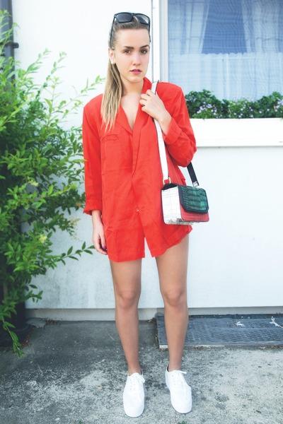 Red H&m Blazer Olive Green
