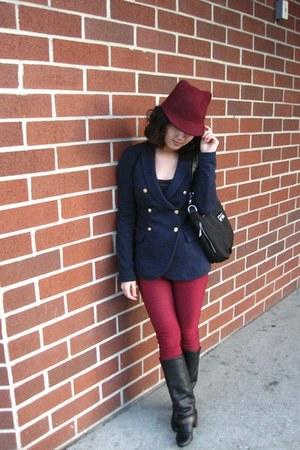 cotton Vero Moda blazer - leather Lilimill boots - skinny no brand pants