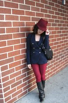 cotton Vero Moda blazer - leather Lilimill boots - skinny no brand pants