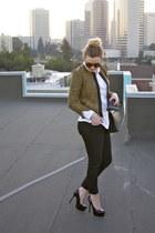Gap jacket - J Brand jeans - Gap shirt - Bottega Veneta purse