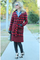 brick red buffalo plaid Marc by Marc Jacobs coat