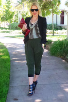 Club Monaco blazer - Matt & Nat bag - snakeskin haute hippie blouse