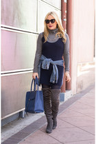 charcoal gray over the knee catherine malandrino boots