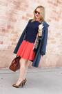 Navy-trench-claude-montana-coat-navy-striped-madewell-cardigan