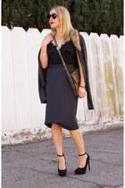 charcoal gray pencil skirt vivienne westwood skirt
