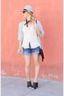 Silver-split-back-topshop-shirt-blue-denim-7-for-all-mankind-shorts