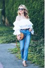 Blue-two-tone-william-rast-jeans-white-ruffled-missy-empire-top