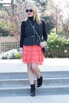 black turtleneck Ralph Lauren sweater - black cross body Rebecca Minkoff bag