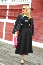 black faux leather Chicwish jacket - black Zara sweater