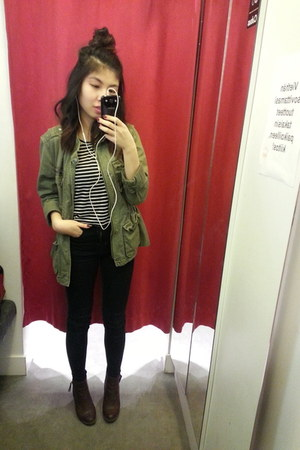 GINA TRICOT jacket - H&M shoes - GINA TRICOT jeans - brandy melville t-shirt