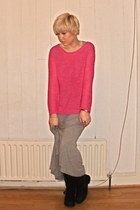 H&M jumper - new look boots - H&M dress - Urban Outfitters watch