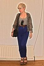 Bik Bok pants - vintage bag - new look bodysuit - H&M necklace - vintage belt