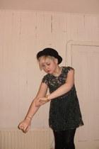 River Island dress - Topshop hat - M&S tights