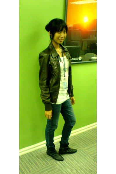 Zara jacket - - top - BNY jeans - - boots